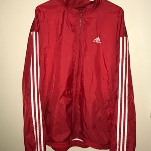 Windbreaker with Stripes Down the Sleeve
